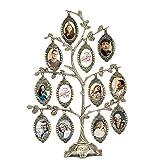 Árbol de familia marco de fotos marco de fotos decorativo cuadro top para vacaciones, gris, 9.7''H*9.7''W*2.6''L