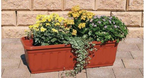 Blumenkasten 60 cm terracotta mit Wasserspeicher MADE IN GERMANY