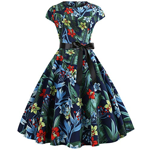 Kleider Damen MYMYG 1950er Vintage Retro Brautjungfernkleid Petticoat Lange Ärmel Ballkleid Hepburn...