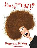 """Happy 20th Birthday: You're How Old!? Discreet Internet Website Password Organizer, Funny Birthday Gifts for 20 Year Old Men or Women, Son or ... Best Friend, Book Size 8 1/2"""" x 11"""""""