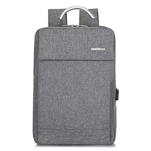 YHM Laptop Rucksack Slim Lightweight Fashion Schultasche USB Ladeanschluss Durable Männer Frauen Wasserdicht Business Casual Für College Travel,Grau