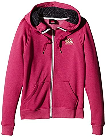 Canterbury Femme Sweat zippé à capuche - Berry Red Marl, taille 10