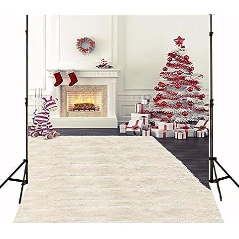 Generico 2M X 3M Tessuto sottile di sfondo di Natale Fotografia NOTEBOOK/A5Bambini rotoli di studio (Increspato Tela)