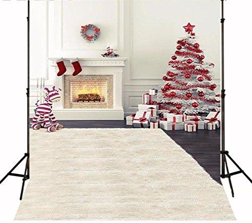 Genérico 2m x 3m Tela delgada de fondo de Navidad Fotografía de orde