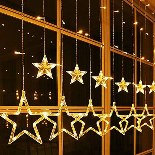 Anmou Light Batterie/solar lichterketten außen LED-Lichterketten 138 LEDs Dekorative Fee Batteriebetriebeneledketten Star Lights Schlafzimmer @ USB-Fernbed - Energy-star-wand-beleuchtung