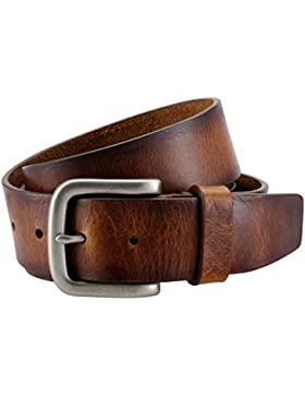 The Art of Belt by LINDENMANN Ledergürtel Herren / Gürtel Damen Vollrindleder, unisex, cognac