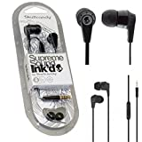 #8: Skullcandy IN EAR Supreme Sound Bass Headphones Ink'd 2.0 Earphone Headset W/MIC ( Full Black Colour )