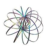 xincare Bagues Magiques, Anneaux d'écoulement 3D en Acier Inoxydable nouveauté en Forme de Ressort cinétique Bracelet Jouet Fidget Jeu pour Enfants Ados Adultes - Multicolore