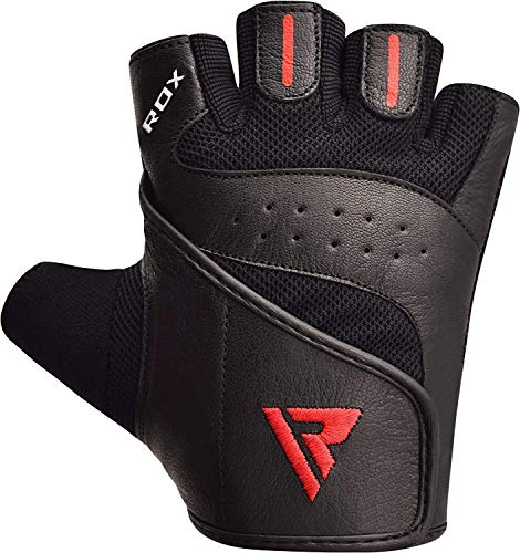 RDX-Gym-Weight-Lifting-Gloves-Leather-Workout-Fitness-Crossfit-Bodybuilding-Powerlifting-Breathable-Wrist-Support-Strength-Training-Exercise