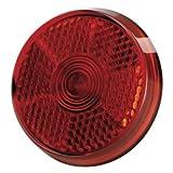 Prophete LED-Blinklicht, rund, rot, inkl. Batterie, schwarz L