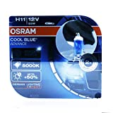 2x OSRAM COOL BLUE ADVANCE H11 12V 55W PGJ19-2 62211CBA-HCB
