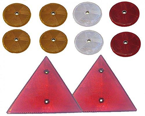 Faretto posteriore Set-10pezzi, con marchio di controllo-catarifrangenti pignone per ciondolo. Set Nr. 1