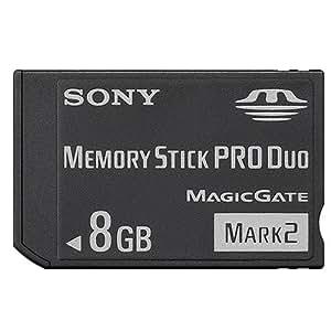 Sony - MSMT8G - Memory Stick Pro Duo Mark2 - Sans adaptateur - 8 Go - Noir