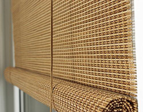 Der Jalousienladen Efixs Premium Bambusrollo Rollup Aus Rundstabchen