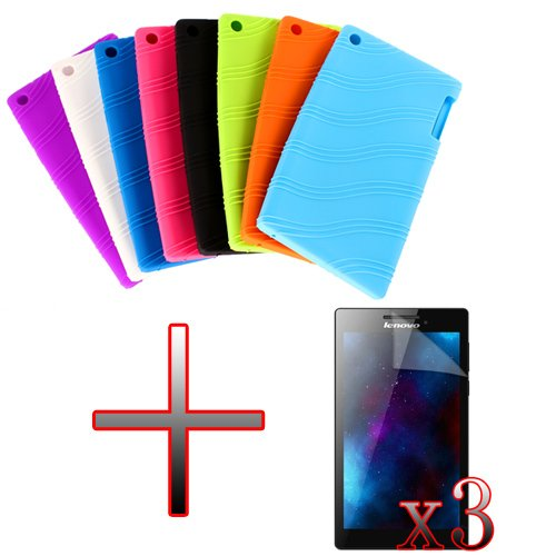 XMY Silicone Gel Rubber Case Cover Fall-Abdeckung +3x Film For 7