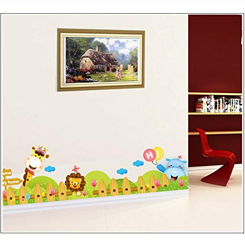 (Meaosy Cartoon Zoo Wall Decal Aufkleber Kinderzimmer Kinderzimmer Wand Grenze Kunst Wandbild Poster Ecke Der Wand Dekoration Wallpaper Applique)