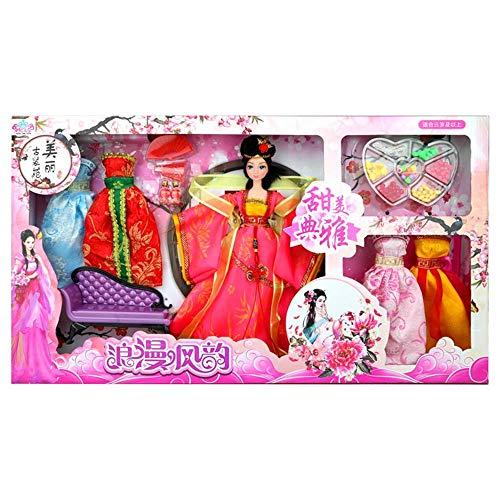 Geburtstag Weihnachtsgeschenke Chinesische Alte Puppen Vier Schönheit Chinesischen Stil Klassische Hanfu Kostüm Kleid Puppe Geschenkbox Mädchen kinder DIY Spielzeug (Stil : 4(diaochan))