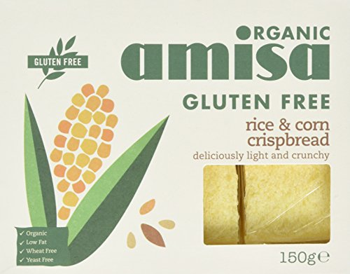 Amisa Organic Crispbread Rice and Corn 150g (Pack of 6)