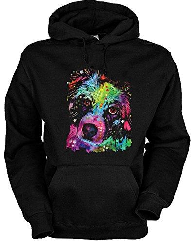 Hunde Motiv Kapuzenpullover Hoody Aussie Australian Shepherd Hund Dog Geschenk für Hundehalter Geschenk für Hundebesitzer Weihnachtsgeschenk Australian Shepherd Sweatshirt