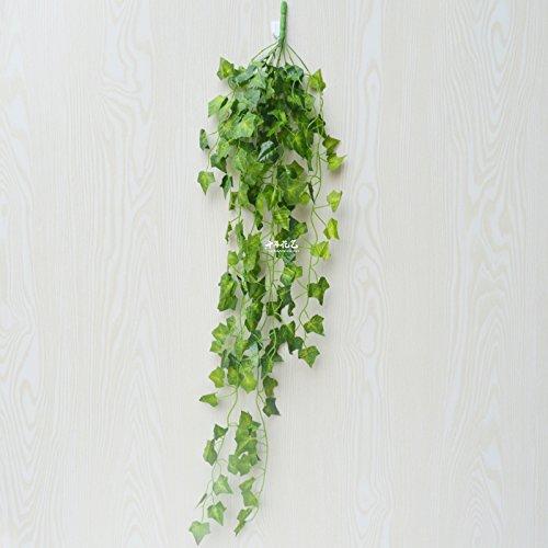 XMJR Wall decoration Emulation Anlage künstliche Blumen rattan Reben grün-shik Wand Indoor Water piping Blätter Klimaanlage dekorative blaue Wand grünes Blatt, ein Bündel von Gottheiten (Indoor-rebe-anlage)