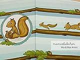 Jersey-Stoff mia&max #Mint (0,45m / 1 Panel) Eichhörnchen