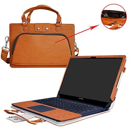 Deluxe Leder-notebook (ASUS UX490UA Hülle,2 in 1 Spezielles Design eine PU Leder Schutzhülle + portable Laptoptasche für 14