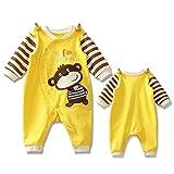 Highdas Pyjama Bébé Fille Garçon Grenouillère Combinaisons en Coton Bouton à Manches Longues Chaud Pyjama Déguisement 0-3 Mois