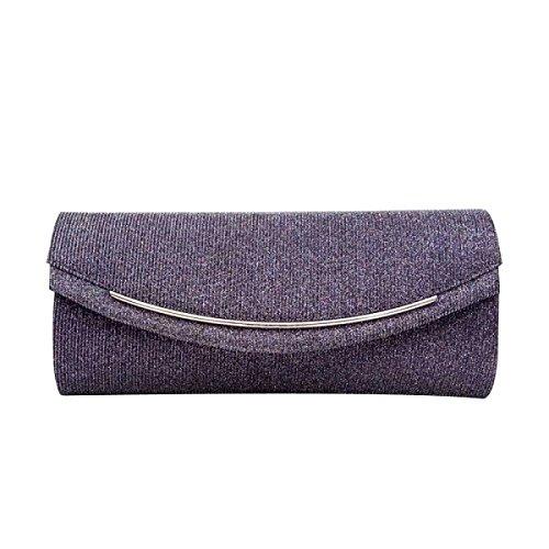 Pieghe Di Cristallo Evening Bag Dazzling Anteriore In Pelle Womens Faux Darkgray