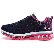 12a07ae90f9672 frysen Herren Damen Sportschuhe Laufschuhe mit Luftpolster Turnschuhe  Profilsohle Sneakers Leichte Schuhe