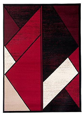 Tapis Conforama Rouge - Grande Tapis De Salon - Rouge Noir