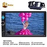 EinCar Doppio 2 din in dash autoradio autoradio MP5 Player 7 schermo multi-touch pollici capacitivo Radio FM Video Player no-dvd Supporto Bluetooth / USB / SD / TFT + telecomando + Rear View Camera