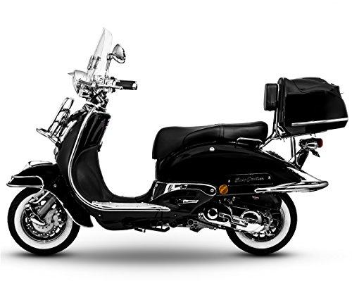 Retro Roller Easy Cruiser Chrom 50 ccm schwarz Motorroller Scooter Moped Mofa Easycruiser
