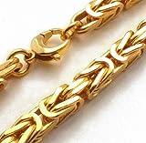tendenze Königsarmband vergoldet, 8mm quadratisch, Länge 23cm, direkt ab italienischer Fabrik BZG8-23 - 3