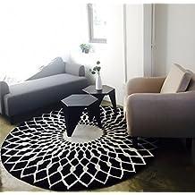 Alfombras redondas negro - Alfombras dormitorio amazon ...