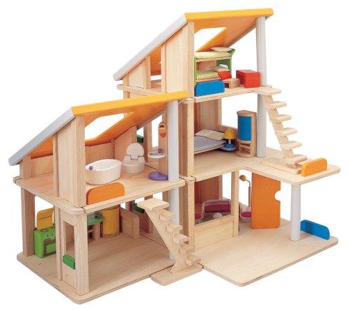 PLANTOYS 13571410 - Chalet Puppenhaus mit Möbeln - 4