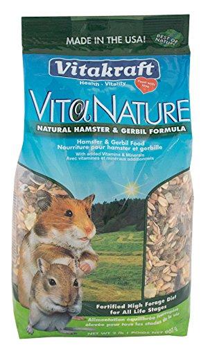 Vitakraft Nahrung für Hamster und Rennmäuse, natürlich, hohe Vielfalt an Rezeptur, 1 Beutel, 0,6 kg -