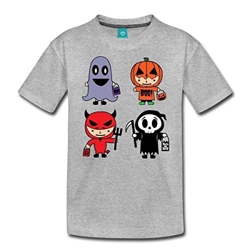 Ideen Teenager Mädchen Gute Kostüm (Halloween Kostüme Teufel Kürbis Geist Teenager Premium T-Shirt von Spreadshirt®, 158/164 (12 Jahre), Grau)