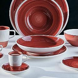 Villeroy & Boch Manufacture - Plato llano, 27 cm, porcelana premium, color rojo