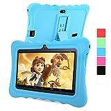 GBtiger L701 Kinder PC Tablet 7 Zoll (Android 4.4 Quad-Core 1,3 GHz, 512 MB RAM + 8GB ROM, HD-Auflösung von 1024 x 600, WiFi, GPS, Bluetooth) (Schwarz, Blau Schale)
