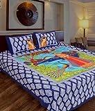Renown Exclusive Sanganeri Jaipuri Blue ...