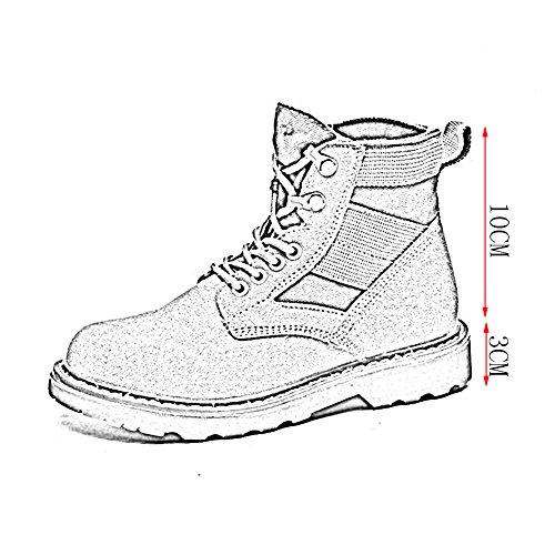 HAIPENG Stivaletti Martin Knight Boots Autunno Retro Antiscivolo Aiuto Elevato Alunno Da Donna 2 Colori ( Colore : Beige , dimensioni : EU36/UK4/L:230mm ) Beige