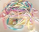 Glitterati Kleine Beads 40Meter Satinband Pastell Pack in unterschiedlichen Farben