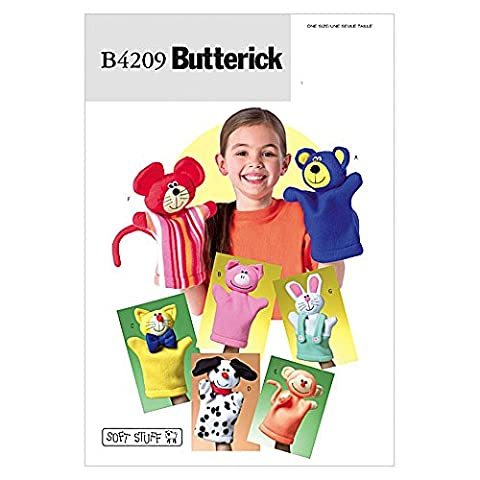 Children's Butterick Patron de couture facile 4209–Marionnette à main-jouets