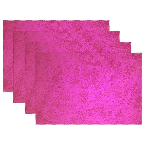 GOODSTHING Tischset, Hot Pink Design Placemats for Dining Table Heat Resistant Kitchen Table Decor Washable Table Mats Set of 6 Hot Pink Design