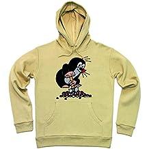 TV - Dibujos animados - Krtek, el Topo Sudadera con capucha - Suéter con capucha - con Bolsillo - Beige - Diseño original con licencia - LOGOSHIRT
