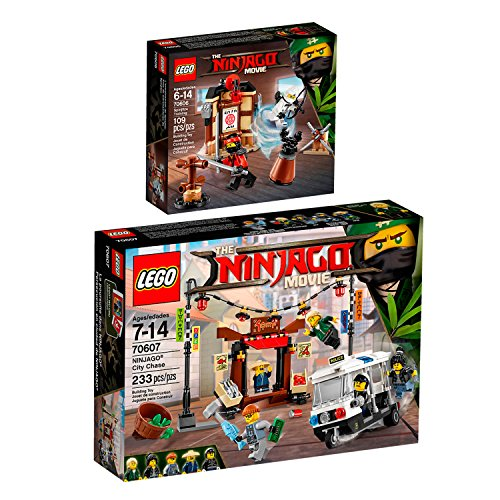 Preisvergleich Produktbild The Lego NINJAGO Movie 2er Set 70606 70607 Spinjitzu-Training + Verfolgungsjagd in NINJAGO City