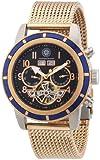 Constantin Durmont Herren-Armbanduhr XL Pueblo Analog Automatik Edelstahl beschichtet CD-PUEB-AT-RGM-STRG-BL