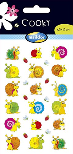 maildor-28-tlg-sticker-set-cooky-schnecken