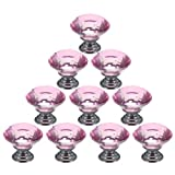 Best Waterwood Cabinet Knobs And Handles - Water & Wood 10PCS 30mm Crystal Glass Diamond Review
