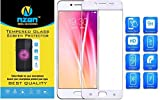 Vivo V5s Full Coverage Tempered Glass, [Color Glass] [Edge to Edge Crash Protection] Curved [Scratch Proof] [Bubble Free] Tempered Glass Screen Protector for Vivo V5s - White